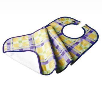Kera Bavoir en tissu et imperméable pour adulte - 45 x 87 cm