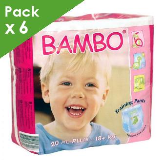 BAMBO - Training Pants XL PLUS - 18 kg et plus - Carton de 120 langes culottes