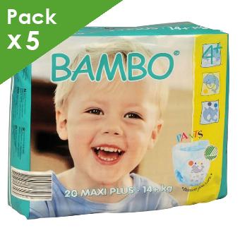 BAMBO - Training Pants Maxi Plus - 14 kg et plus - Carton de 100 langes culottes