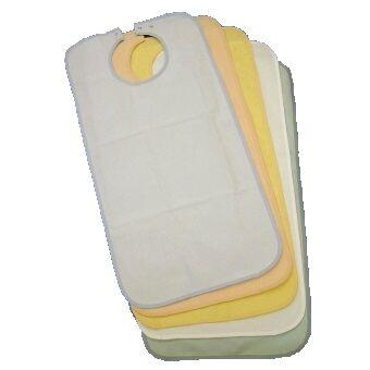 Gohy Bavoir imperméable en éponge pour adulte - 50 x 90 cm - Blanc