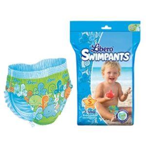 Libero SwimPants Small - 7 à 12 kg - Paquet de 6 maillots de bain jetables - Publicité