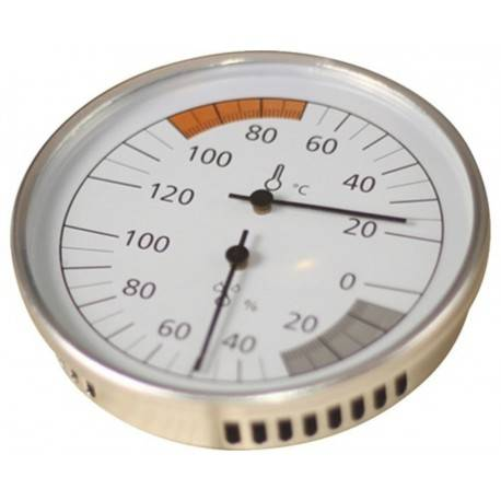 Karibu Thermomètre Classic en cadre chromé pour saunas - Karibu