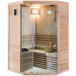 SNÖ Sauna traditionnel d'angle LUXE 2-3 places SNÖ + poêle SAWO 4500W - Publicité
