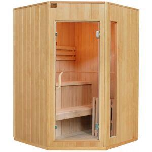 SNÖ Sauna traditionnel d'angle 2-3 places + poêle HARVIA 4500W - SNÖ - Publicité
