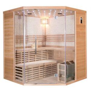SNÖ Sauna traditionnel d'angle LUXE 4-5 places SNÖ + poêle SAWO 8000W - Publicité