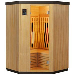 SNÖ Sauna d'angle infrarouge chauffages carbone et full spectrum Vertical Black 2000W 2-3 places - SNÖ - Publicité
