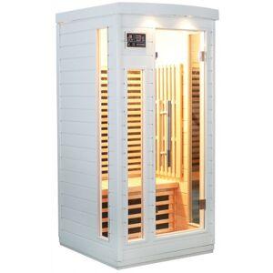 SNÖ Sauna infrarouge blanc panneaux carbone 1500W 1 place - SNÖ - Publicité