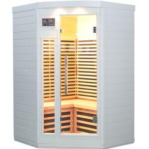 SNÖ Sauna d'angle infrarouge blanc panneaux carbone 2150W 2-3 places - SNÖ - Publicité