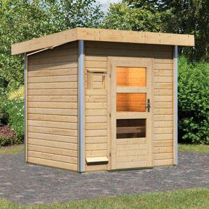 Karibu Sauna d'extérieur TORGE 3 à 4 places 38mm avec porte moderne KARIBU - Publicité