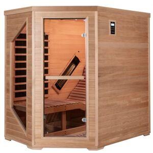 SNÖ Sauna d'angle infrarouge LOUNGE 1 place panneaux carbone et céramique 2570W - Snö - Publicité