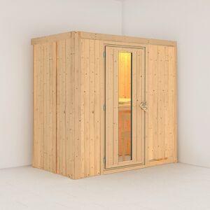 Karibu Sauna traditionnel VARIADO 2 à 3 places 68mm sans couronne - avec porte à économie d'énergie KARIBU - Publicité