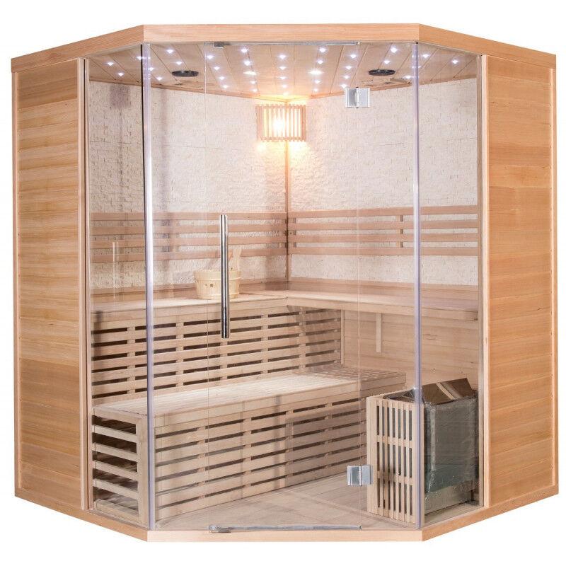 SNÖ Sauna traditionnel LUXE 5-6 places SNÖ + poêle SAWO 9000W - SNÖ + panneau de contrôle intérieur uniquement
