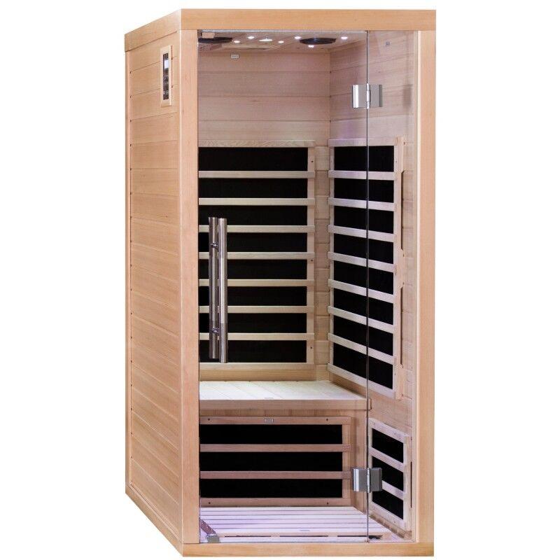 SNÖ Sauna infrarouge panneaux carbone 1670W LUXE 1 place - SNÖ