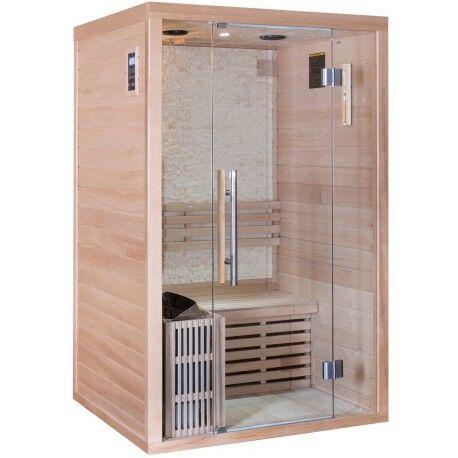 SNÖ Sauna traditionnel LUXE 2 places SNÖ + poêle SAWO 3000W