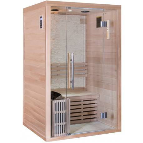 SNÖ Sauna traditionnel LUXE 2 places SNÖ + poêle SAWO 3000W