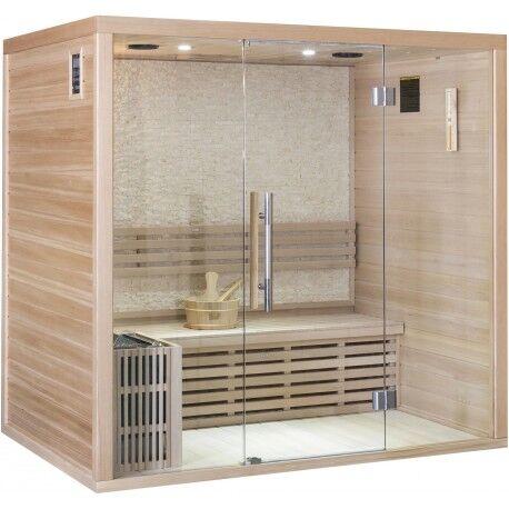 SNÖ Sauna traditionnel LUXE 4 places SNÖ + poêle SAWO 8000W