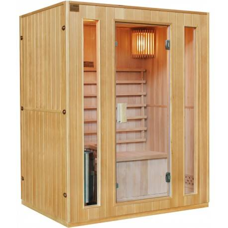 SNÖ Sauna traditionnel 3 places + poêle HARVIA 3500W - SNÖ