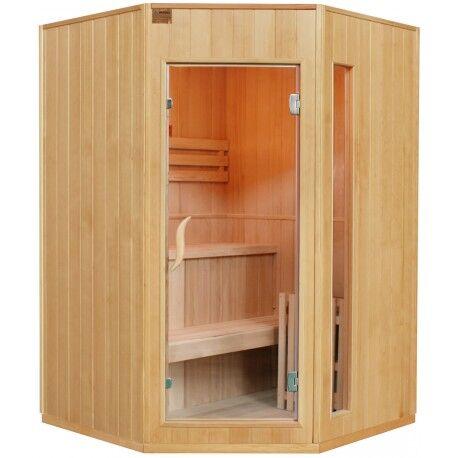 SNÖ Sauna traditionnel d'angle 2-3 places + poêle HARVIA 4500W - SNÖ