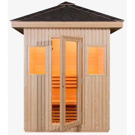 SNÖ Sauna extérieur panneaux composite DOME 3 places - poêle SAWO 4500W - SNÖ