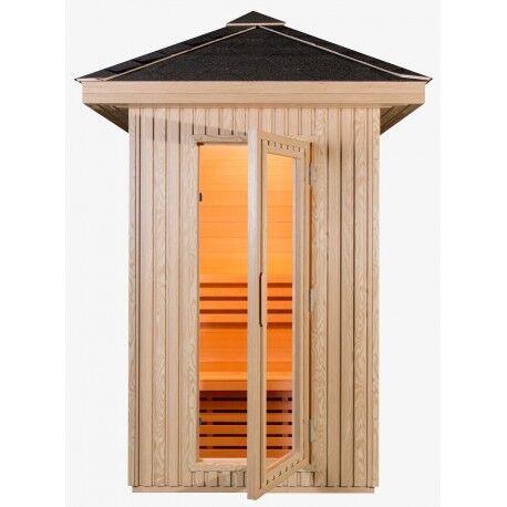 SNÖ Sauna extérieur composite DOME 2 places - poêle SAWO 3000W SNÖ