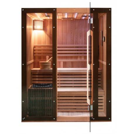 SNÖ Sauna traditionnel CEDAR CLASS 4 places + poêle SAWO 6000W - SNÖ