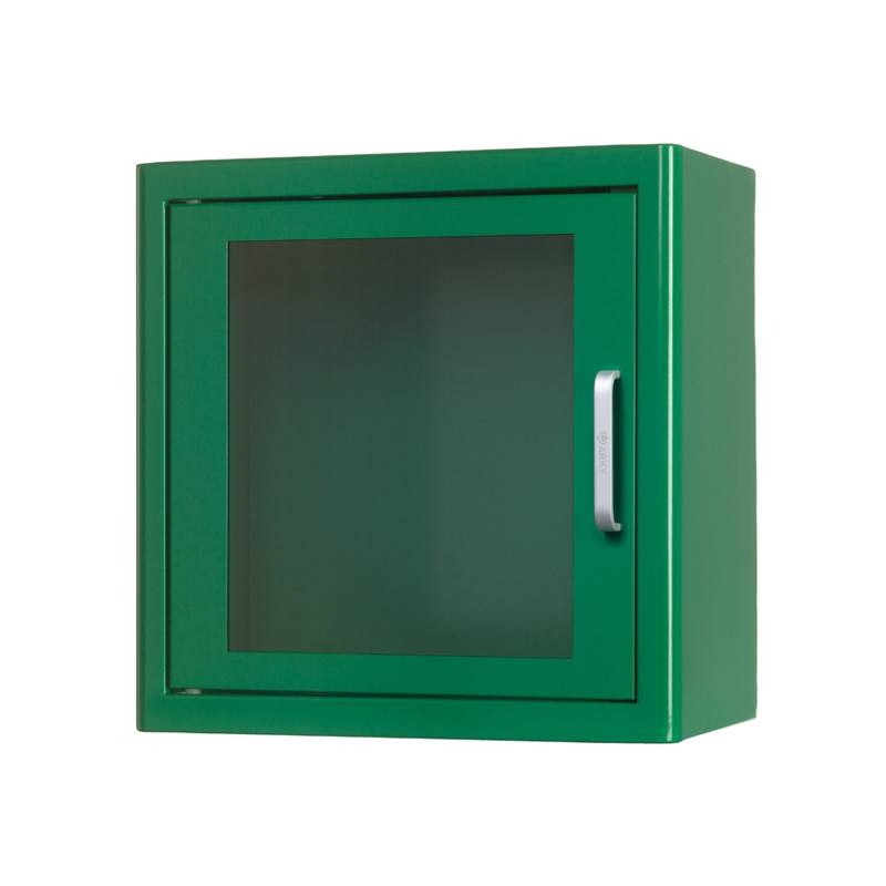 AED cabinet without alarm green