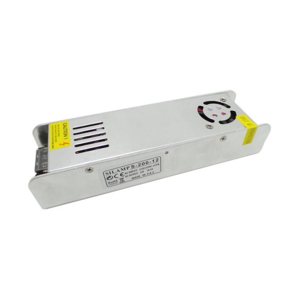 SILAMP Transformateur 220V 12V 200W IP20 DC 16.5A