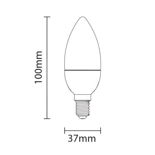 SILAMP Ampoule LED E14 4W 220V C37 180° (Pack de 10) - Blanc Froid 6000K - 8000K