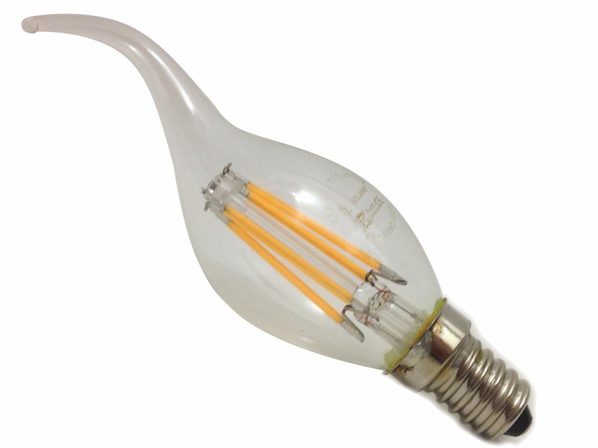SILAMP Ampoule LED E14 Flamme Filament 6W 220V 360° - Blanc Chaud 2300K - 3500K