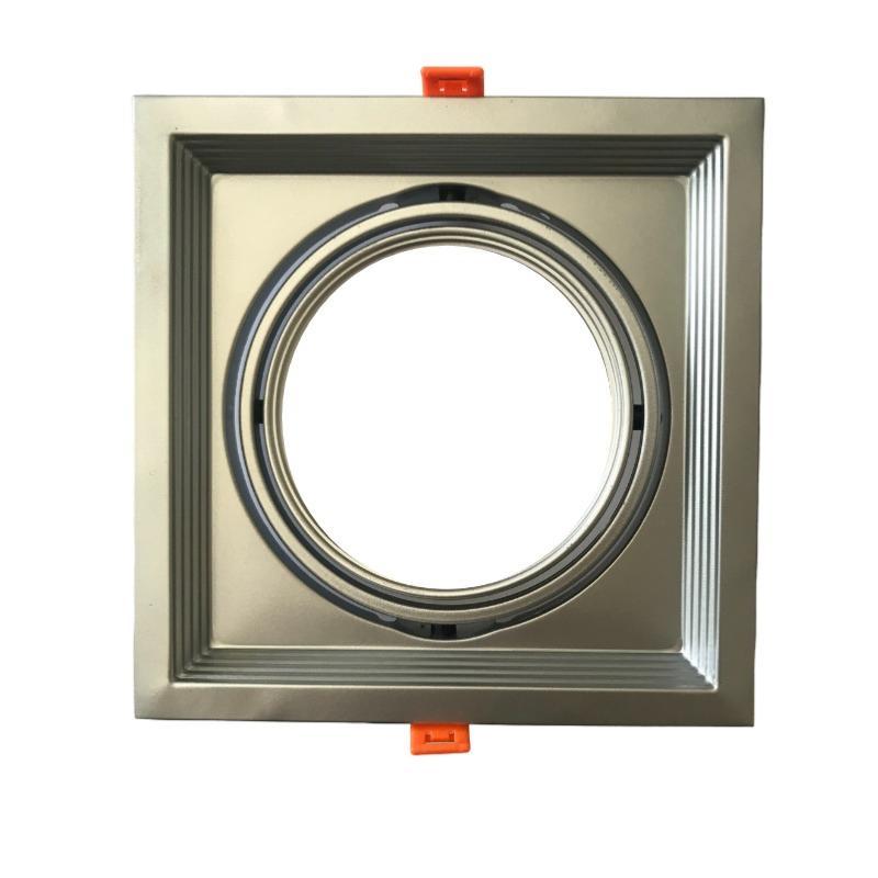 Support Simple Orientable INOX Encastrable pour Ampoule LED AR111 - Argent