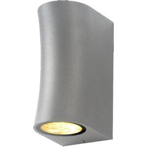 SILAMP Applique Murale Argent LED IP44 pour 2 ampoules GU10 - Publicité
