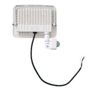Projecteur LED 30W avec Détecteur de Mouvement Crépusculaire Extra Plat IP66 BLANC - Blanc Neutre 4000K - 5500K - Publicité