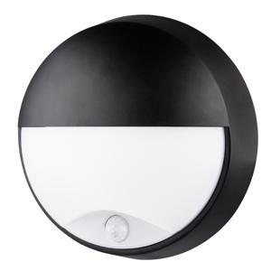 SILAMP Applique Murale LED Ronde Noire 14W avec Détecteur de Mouvement IP54 - Blanc Neutre 4000K - 5500K - Publicité