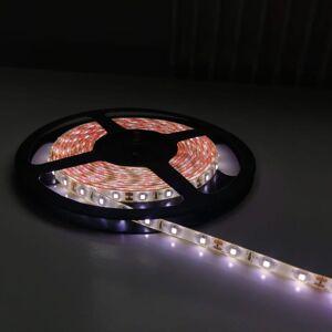 SILAMP Ruban LED 12V 5M 2835 IP44 60LED/m - Blanc Neutre 4000K - 5500K - Publicité