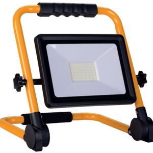 SILAMP Projecteur LED 50W pour Chantier Portable IP65 + 3M de câble - Blanc Froid 6000K - 8000K - Publicité