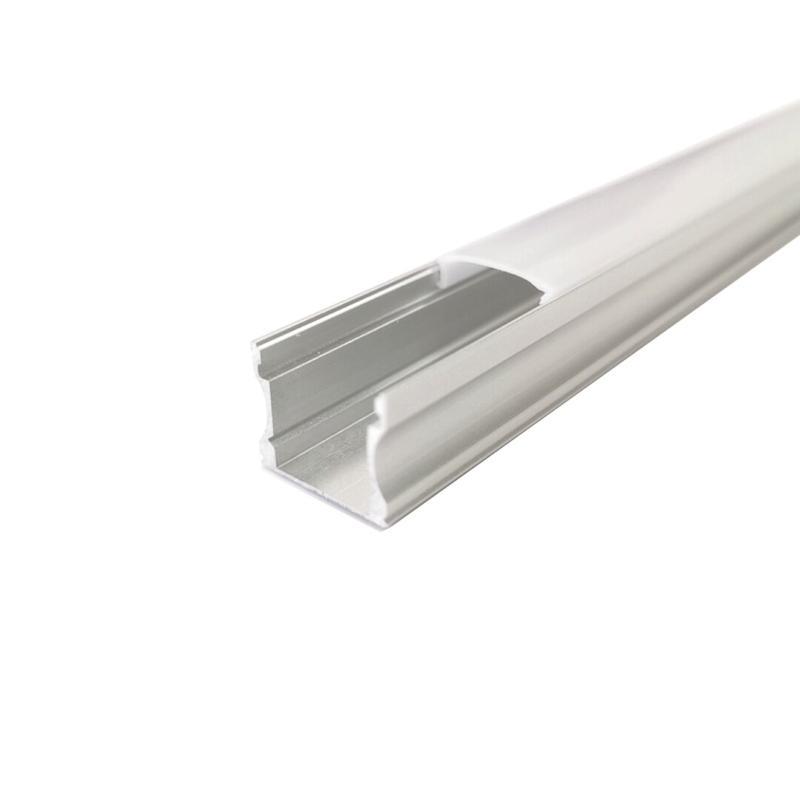 SILAMP Profilé Aluminium 1m pour Ruban LED - Couvercle Opaque