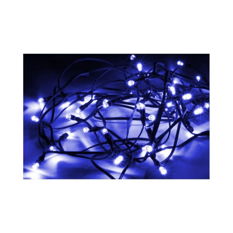 SILAMP Guirlande Solaire LED Bleue 5M 50LED IP44, 8 Modes - Câble Vert