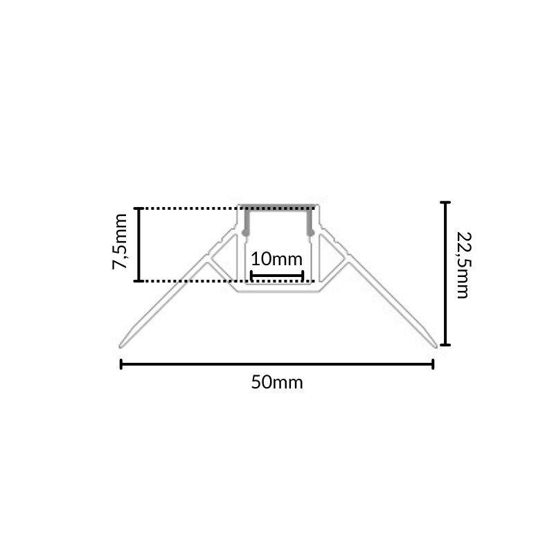 SILAMP Profilé Aluminium encastré angulaire 1m pour Ruban LED Couvercle Blanc Opaque