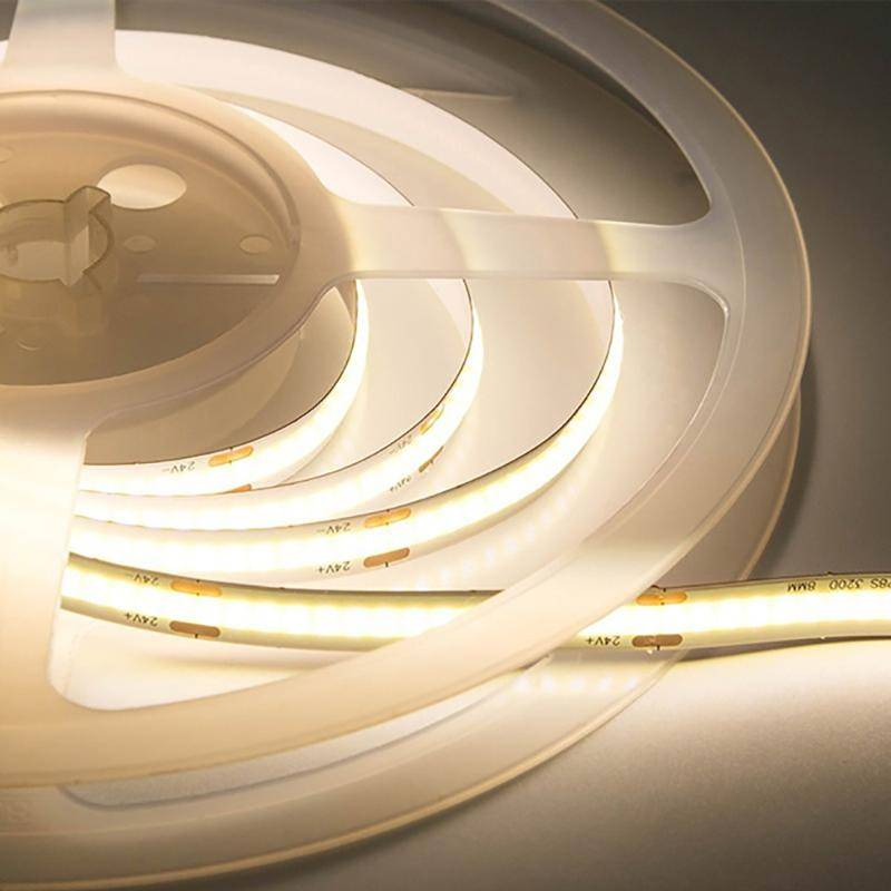 SILAMP Ruban LED COB 5M 24V IP20 512LED/m - Blanc Chaud 2300K - 3500K