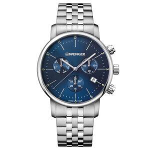 Wenger Urban Classic Montre à quartz Chronograph acier inoxydable blue-silver