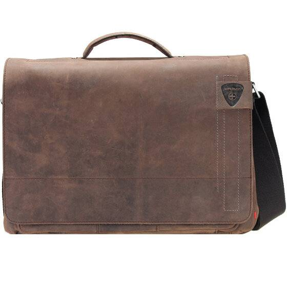 Strellson Richmond Messenger Sac bandoulière cuir 40 cm compartiment Laptop