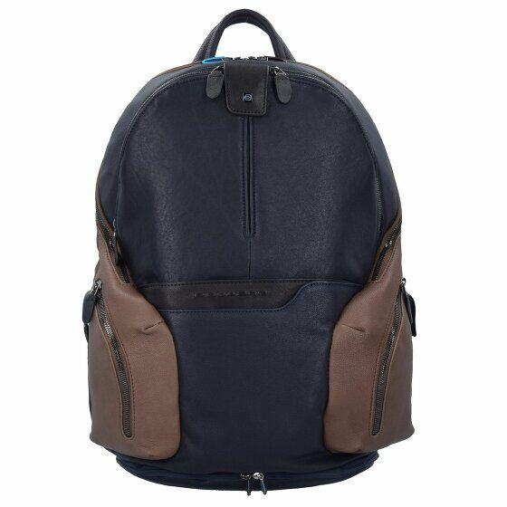 Piquadro Coleos Sac à dos cuir 36 cm compartiment ordinateur portable