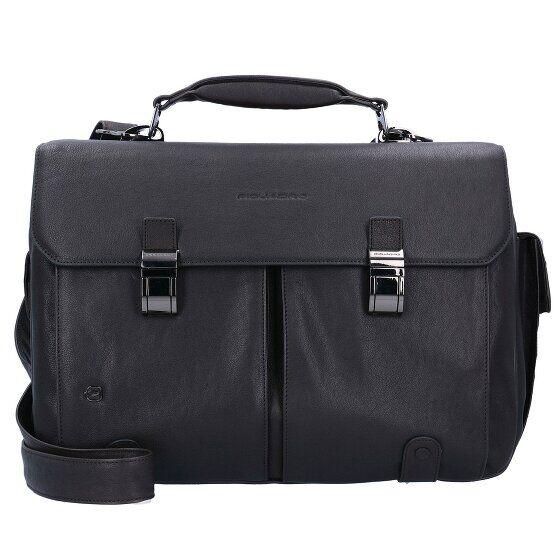 Piquadro Black Square Serviette cuir 43 cm compartiment Laptop