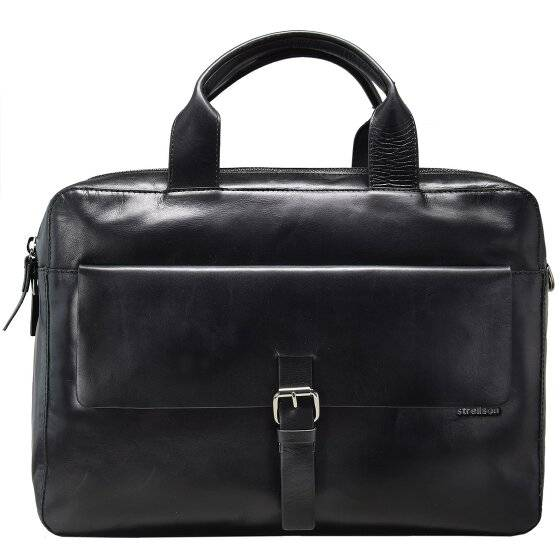 Strellson Scott Serviette - Porte-documents avec compartiment ordinateur portable cuir 40 cm