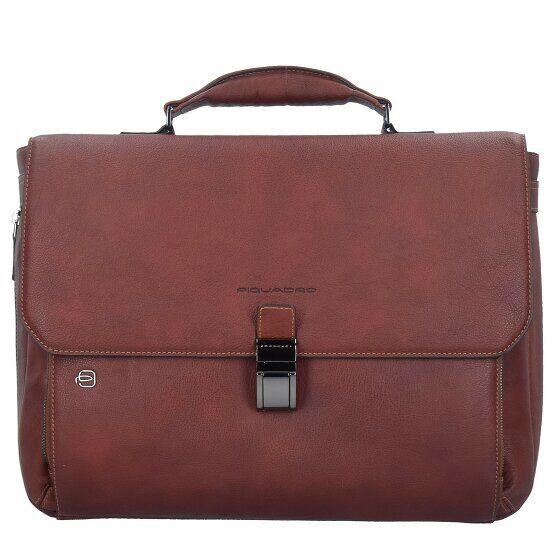 Piquadro Black Square Serviette cuir 40 cm compartiment Laptop