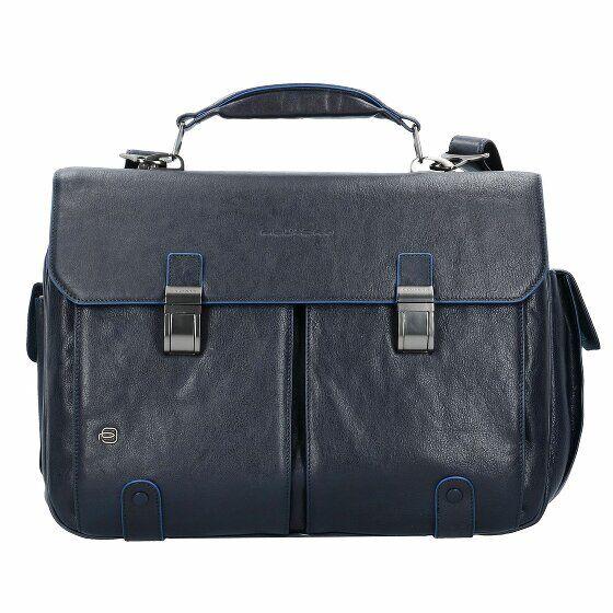 Piquadro Blue Square Serviette cuir 42 cm compartiment Laptop