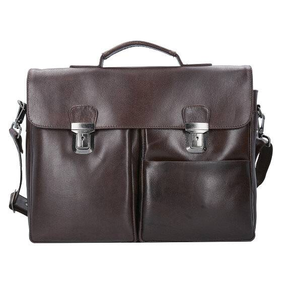 Franky Raje Serviette cuir 40 cm compartiment Laptop