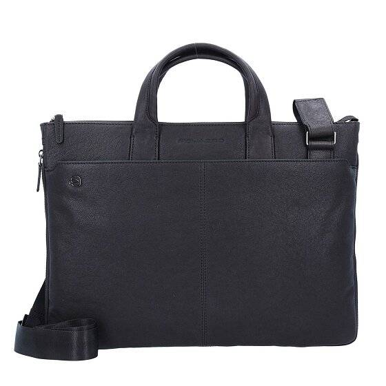 Piquadro Black Square Serviette cuir 42 cm compartiment Laptop