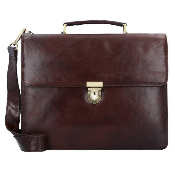 Leonhard Heyden Cambridge Serviette - Porte-documents cuir 38 cm compartiment ordinateur portable