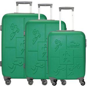 Check.In Sports lot de 3 valises 4 roulettes vert - Publicité